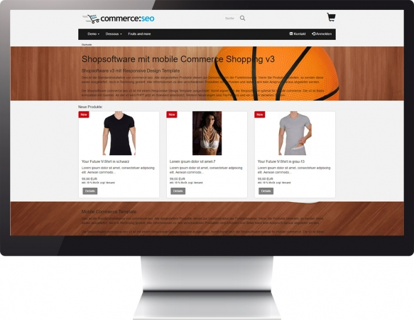 Mobile Commerce Template v3 parallax