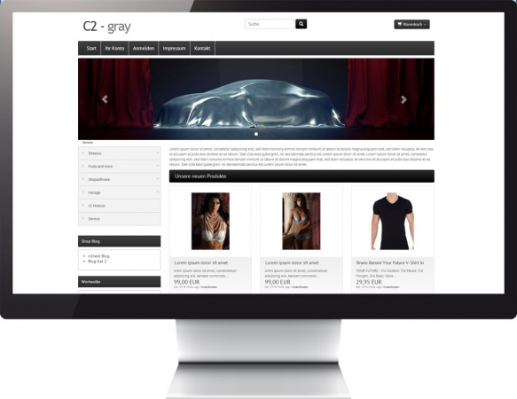 Responsive Template Color c2 Gray
