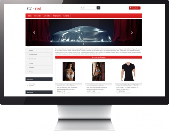 Responsive Template Color c2 red