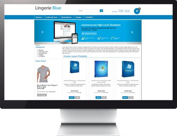 responsive template c2 lingerie blue. Black Bedroom Furniture Sets. Home Design Ideas