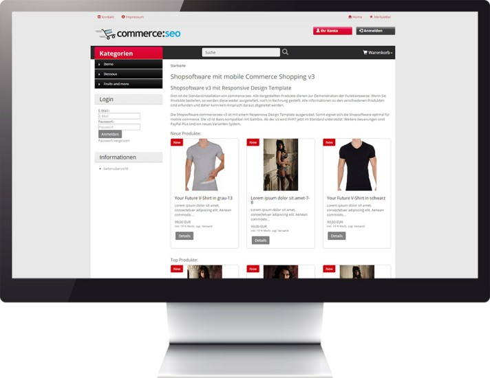 Mobile Commerce Template v3 car